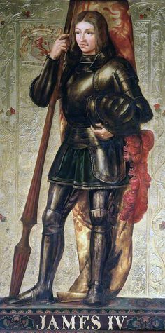 King James IV of Scotland.  King James IV of Scotland, the commander of the Scottish army at the Battle of Flodden in 1513; his death at the battle, with many of his nobles and soldiers, plunged Scotland into crisis for many years