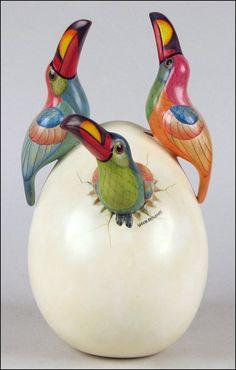 Parrots, Sergio Bustamante, Mexico.