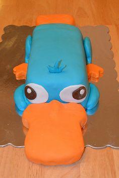 Perry the Platypus Cake by AmyMapeevlia, via Flickr