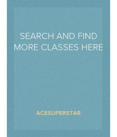 Can't find your class?    Use the search button or tell me :)