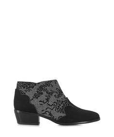 Juliette black floral ankle boots Sale - Ruby Shoo