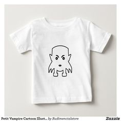 Petit Vampire Cartoon Illustration Baby T-Shirt
