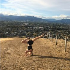 Tripod #Headstand practice hard on uneven ground! . Had a big walk up the Wither Hills tonight with mum felt so good getting some fresh air and knowing I have a long weekend to relax and unwind for #easter . Do you have much planned for this eggceptional Easter weekend?