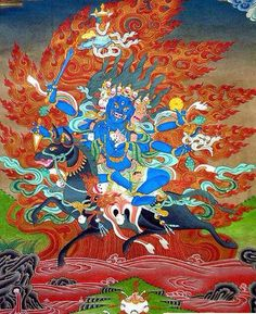"""""""Palden Lhamo"""" is the only female among the eight great dharampalas (Protectors of Buddhism). She is a protectress of Buddhist governments everywhere, including the Dalai Lamas and their government in Lhasa."""