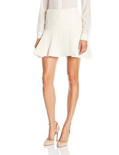 Rachel Zoe Womens Brianna Skirt Ecru 8 *** You can get additional details at the image link.