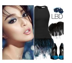 """""""Little Black Dress"""" by tinayar ❤ liked on Polyvore featuring Elizabeth and James, Poesia, Alexander McQueen and GUESS"""