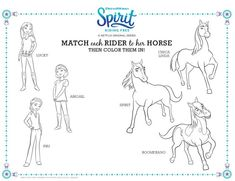 Spirit Riding Coloring Pages Printable Free - Free Coloring Sheets Horse Coloring Pages, Free Coloring Sheets, Cartoon Coloring Pages, Colouring Pages, Coloring Book, School Age Activities, Free Activities, Dreamworks Animation, Horse Birthday Parties