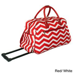 World Traveler ZigZag 22-inch Carry-on Rolling Duffle Bag | Overstock.com Shopping - Big Discounts on World Traveler Rolling Duffels