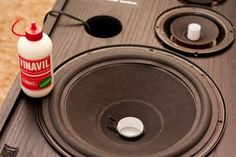 Re-foam Your Old Speakers : 18 Steps (with Pictures) - Instructables Home Stereo Speakers, Diy Speakers, Diy Electronics, Electronics Projects, Carver Amplifier, Home Theater Installation, Smart Home Automation, Speaker Design, Vintage Diy