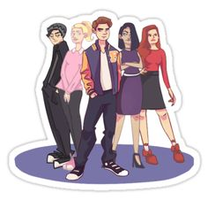 """riverdale drawing "" Stickers by riverdaddies 