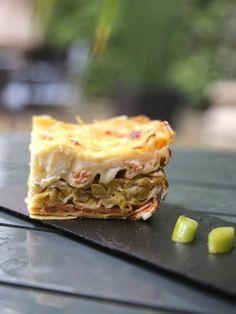 Lasagnes aux poireaux et au saumon - Recette de cuisine Marmiton (Facile)