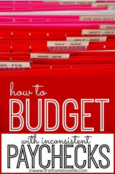 How to budget bills when you make inconsistent paychecks.