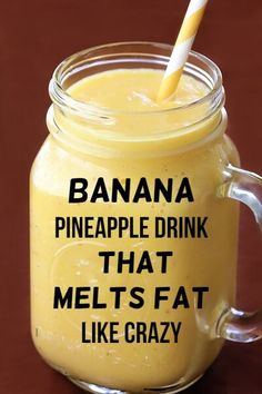 #banana #pineapple #drink #weightloss Weight Loss Drinks, Weight Loss Smoothies, Easy Weight Loss, Healthy Weight Loss, How To Lose Weight Fast, Kale Smoothies, Breakfast Smoothies, Weight Loss Meal Plan, Homemade Smoothies