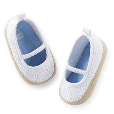 Carter's Eyelet Espadrille Crib Shoes | Carters.com