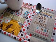 Crafty Mug Rug Free Patterns | Here are some other great ideas and tutorials for making mug rugs ...