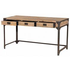 Bureau atelier bois et métal