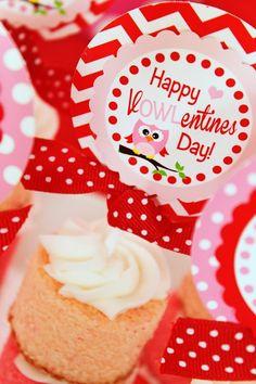Owl Themed Valentine's Day Party with SUCH CUTE IDEAS via Kara's Party Ideas Kara Allen KarasPartyIdeas.com #owlparty #owlprintables #valent...
