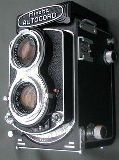 Vintage Minolta Autocord medium format 6x6 TLR Camera Twin Lens Rokkor 75mm