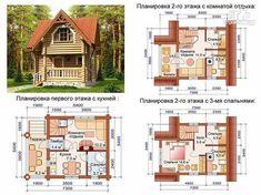Фото 5: проект дом-баня 6х6 м из оцилиндрованного бревна 260 мм