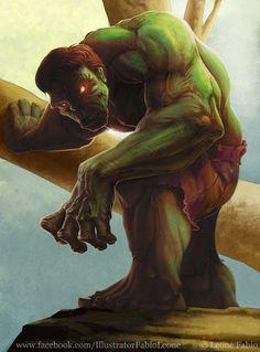 (Hulk) By: Leone-art. Hero World, Marvel Characters, Fictional Characters, Hulk Smash, Bruce Banner, Game Character, New Art, Joker, Fans