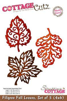 CottageCutz Filigree Fall leaves