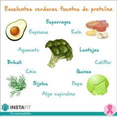 Verduras que son excelentes fuentes de proteína.