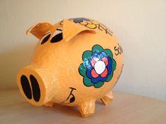 Sparschwein - Geldgeschenk - Prilblumen - Retrolook - 70iger Jahre - Kartenbox -