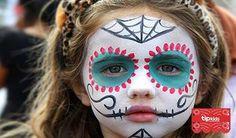 de maquillaje de catrina para niñas - Buscar con Google