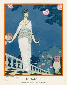 La Gazette du Bon Ton - Paul Poiret - Robe du Soir 'Le Jaloux' - 1913