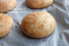 homemade sesame buns #burger #bread