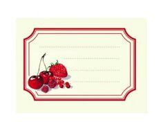 6 étiquettes confiture fruits rouges