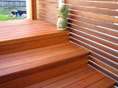 deck stairs | fence-horizontal-slats-and-deck-stairs