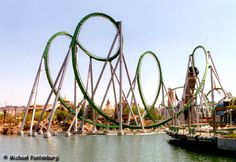 Incredible Hulk, roller coaster, Universal Studios Islands of Adventure Biggest Roller Coaster, Roller Coaster Ride, Roller Coasters, Riders On The Storm, Beach Boardwalk, Amazing Adventures, Around The Worlds, The Incredibles, Incredible Hulk