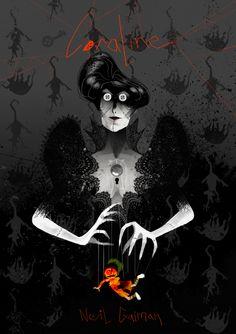 — Neil Gaiman's Coraline book cover, for fun.
