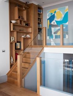 Fit for a queen: a St Leonards-on-Sea home Interior Stairs, House Extensions, Queen, Built Ins, Architecture Details, Interior Inspiration, Home Office, Shelving, Beach House
