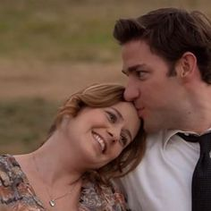 When Jim kissed Pam's forehead and you almost fainted: | 26 Times Jim And Pam's Relationship Was Way, Way Too Real