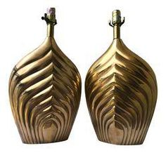 Brass Table Lamps - A Pair on Chairish.com