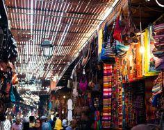 Marrakech souk - fabric fabric fabric!