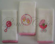 fraldas de bebe bordadas - Pesquisa Google