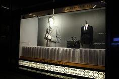 Alfred Dunhill windows, Hong Kong visual merchandising