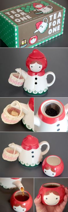 """""""Little Red Riding Hood"""" Tea For One...umm I want. lol"""