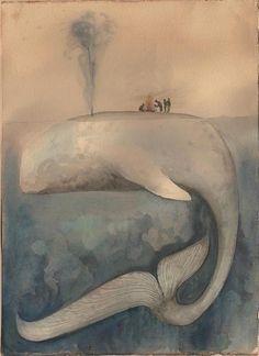 simbad sul dorso della balena by CAROLA , via Behance