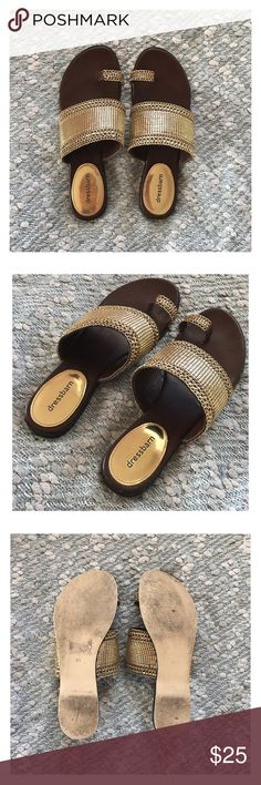 Goddess Sandals These sandals are everything. ✨  Super comfortable and high quality.   - Size 8.5 - Worn once, in excellent condition! The only wear is on the soles. Dress Barn Shoes Sandals