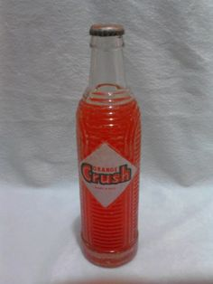Refresco Orange Crush Y Llavero Vintage Botella Antigua - $ 399.00 en Mercado Libre
