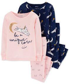 Baby Girl Pajamas, Carters Baby Girl, Pajamas Women, Cotton Pjs, Plus Size Shopping, Girls 4, Baby Girls, Toddler Girls, Snug Fit