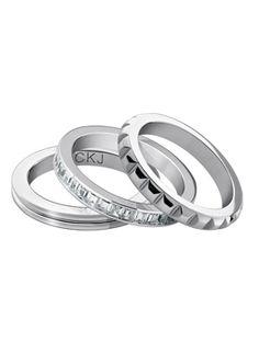 Boutique dos Relógios | Produtos | Joalharia / Bijoutaria | calvin klein jewelry | CkJ Astound Set 3Rings STT/Wht Zircon 8