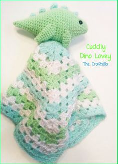 The Craftzilla: Dinosaur Lovey Blanket