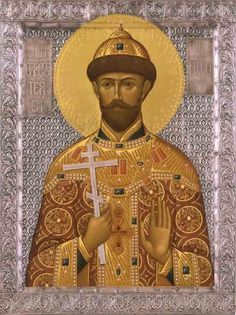 The icon of St. Religious Pictures, Religious Art, Russian Icons, Tsar Nicholas Ii, Imperial Russia, Orthodox Icons, Art Decor, Statue, History