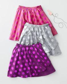 Metallic Dot Knit Skirt   Garnet Hill Girls