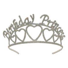 Glittered Birthday Princess Tiara (6ct)